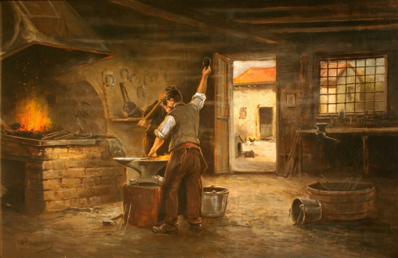 the village blacksmith poem meaning of christmas