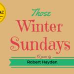 Those Winter Sundays Analysis