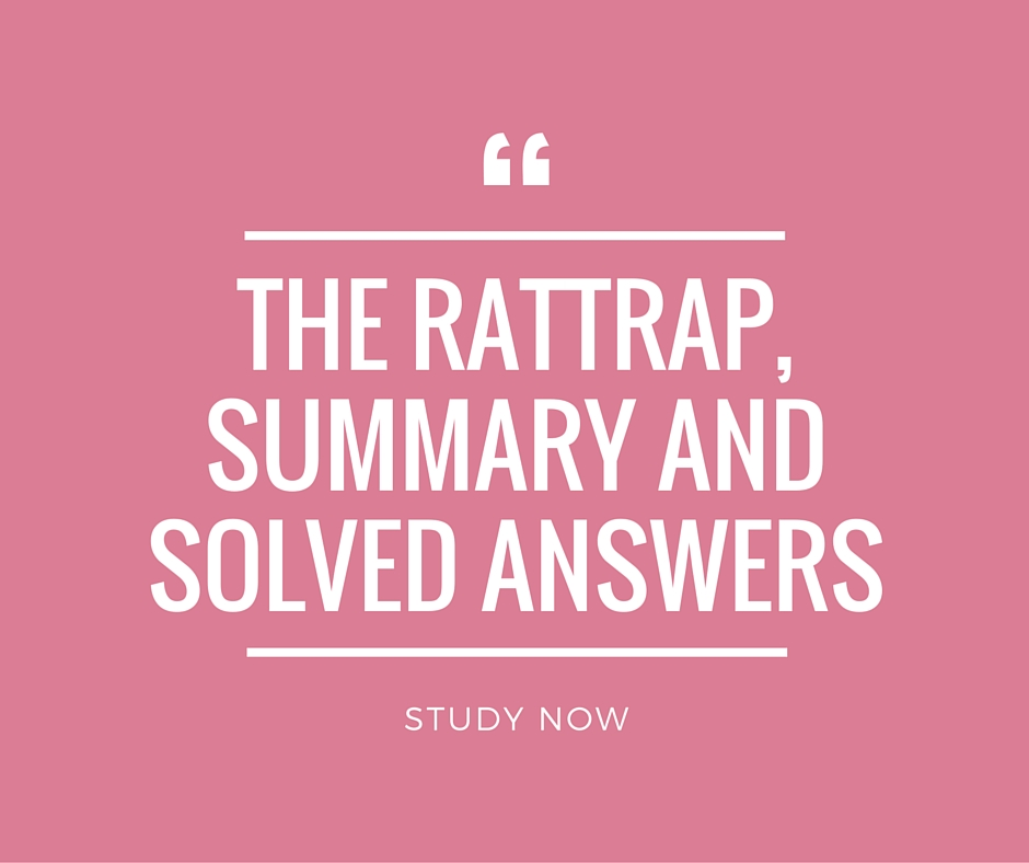 The Rattrap Summary, Solved Questions and Answers CBSE 12 - Beaming