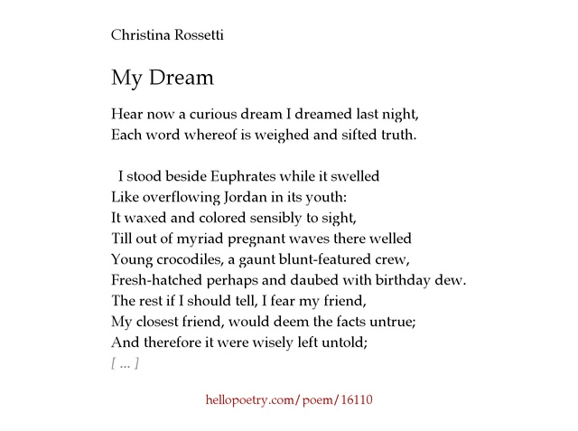 a birthday poem by christina rossetti