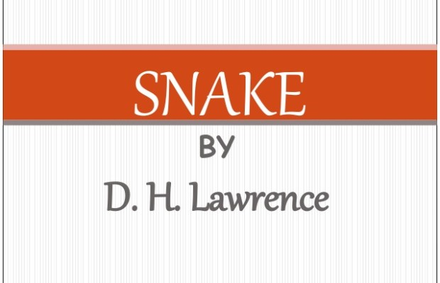 snake by dh lawrence